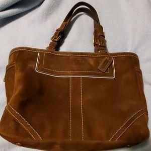Suade coach purse